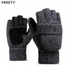 US $9.31 5% OFF|YRRETY Unisex Plus Thick Male Fingerless Gloves Men Wool Winter Warm Exposed Finger Mittens Knitted Warm Flip Half Finger Gloves-in Men's Gloves from Apparel Accessories on Aliexpress.com | Alibaba Group