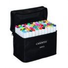 CHENYU 30/40/60/80 шт цветные маркеры манга маркеры для рисования ручка на спиртовой основе нетоксичный эскиз масляная двойная Кисть ручка принадл...