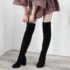 1506.42руб. 40% СКИДКА|Пикантные облегающие эластичные ботфорты из флока; женская обувь; коллекция 2019 года; сезон осень зима; женские высокие сапоги до бедра на высоком каблуке; botas-in Ботфорты from Обувь on AliExpress - 11.11_Double 11_Singles' Day