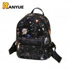 552.02 руб. 55% СКИДКА|Модный Звездный Вселенная космический Принт рюкзак черные школьные сумки для девочек подростков маленький рюкзак женский кожаный Mochila Escolar купить на AliExpress