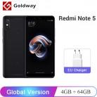 9811.42 руб. |Оригинальная глобальная версия Xiaomi Redmi Note 5 4 ГБ ОЗУ 64 Гб ПЗУ Смартфон Snapdragon 636 Восьмиядерный 5,99