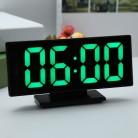 740.12 руб. 27% СКИДКА|Обновление зарядки USB будильник цифровые часы с большим легко читаемым светодио дный ным дисплеем Diming Mode Snooze функция зеркальная поверхность купить на AliExpress