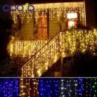 324.46 руб. 49% СКИДКА|Рождественское наружное украшение 4,5 м Droop 0,3 0,5 м занавеска сосулька струнные светодиодные фонари 220 В/110 в новый год сад Xmas Свадебная вечеринка-in LED-гирлянды from Лампы и освещение on Aliexpress.com | Alibaba Group