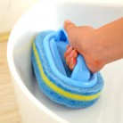 243.98 руб. 40% СКИДКА|Кухня Чистка ванная комната туалет кухня стекло стены Щетка для очистки ванной пластиковая ручка губка для ванной дно купить на AliExpress