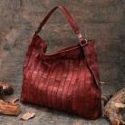 Женская Ретро сумка через плечо первый слой кожи большой емкости сумка ручной работы женские сумки для отдыха из коровьей кожи Сумка Хобо купить на AliExpress