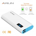 € 24.44 |ARUN banco de potencia 10000 mAh powerbank para Xiaomi mi iPhone X 8 cargador de batería externa portátil para celular Huawei P20 Pro Powerbank-in Cargador portátil from Teléfonos celulares y telecomunicaciones on Aliexpress.com | Alibaba Group