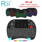 € 18.99 13% de DESCUENTO|Original Rii x8 2,4 GHz aire ratón i8x RGB 7 colores retroiluminación mini teclado inalámbrico portátil Touchpad de juegos para Android TV box PC-in Teclados from Ordenadores y oficina on Aliexpress.com | Alibaba Group