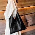 307.73руб. 44% СКИДКА|Женская Ретро цепь черная простая сумка через плечо кожаные сумочки, сумки через плечо женские брендовые вместительные сумки для путешествий mujer-in Сумки с ручками from Багаж и сумки on AliExpress - 11.11_Double 11_Singles' Day