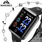 1532.71 руб. 40% СКИДКА|Makibes CK01 умные часы Для Мужчин's Цвет Экран закаленное стекло Фитнес трекер Q18 артериального давления IP68 Часы сердечного ритма Smartwatch купить на AliExpress