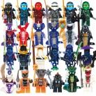24 pcs/lot Compatible Legoed NinjagoINGlys NINJA Héros Kai Jay Cole Zane Nya Lloyd Avec Armes Jouet D'action ninjago Figure Blocs dans Blocs de Jouets et loisirs sur AliExpress.com | Alibaba Group