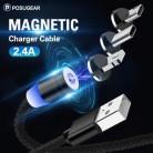 Магнитный кабель Posugear, 1 м, 2 м, Micro usb type C, быстрая зарядка, Microusb type-C, Магнитный зарядный провод, usb c для iphone11 pro X Xs Xr