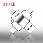 2158.01 руб. |IDiskk USB Flash Drive 3,0 высокая Скорость для iPhone/Android/ПК/Tablet 4 в 1 Pendrives отпечатков пальцев разблокировать 32 г флэш памяти-in USB флэш-накопители from Компьютер и офис on Aliexpress.com | Alibaba Group