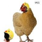 2019 новая инновация модная курица шлем Забавный узор маленький шлем для собаки шапка в форме птицы головные уборы