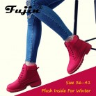 US $14.87 50% OFF|Fujin 2018 Spring Autumn Winter Boots Women Red Fashion Boots Ankle Plush Warm Women Winter Boots Shoes Waterproof Snow Boots-in Ankle Boots from Shoes on Aliexpress.com | Alibaba Group