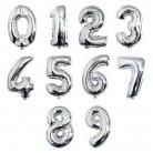 78.81руб. 25% СКИДКА|Большой серебряный шар из алюминиевой фольги с цифрами, огромный воздушный шар 1, 2, 3, 4, 5, 6, 7 цифр, вечерние воздушные шары на день рождения-in Воздушные шары и аксессуары from Дом и животные on AliExpress