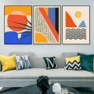 Геометрическая абстрактная сцена Скандинавия Холст Живопись Настенные рисунки плакат картина для галерея Декор интерьера гостиной
