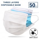50pcs/lot Disposable Mouth Face Mask Anti-Dust 3 Layer Mouth Masks Breathable Masks Face Care Elastic Earloop