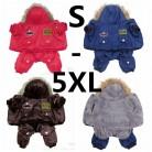 478.83 руб. 5% СКИДКА|Горячая зимняя теплая плотная одежда для больших размеров, одежда для собак, комбинезон с капюшоном, штаны, одежда, XS 5XL, Новое поступление, бесплатная доставка-in Пальто и куртки для собак from Дом и сад on Aliexpress.com | Alibaba Group