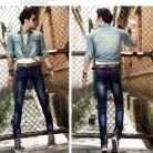 3959.54 руб. 20% СКИДКА Костюмы джинсы мужской личности мужские тонкие эластичные узкие осенние и зимние толстые купить на AliExpress