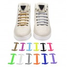 102.23 руб. 25% СКИДКА|12 шт. для женщин мужчин без галстук шнурки для обуви унисекс эластичные силиконовые шнурки для полукедов унисекс парусиновая обувь шнурки 12 цветов купить на AliExpress