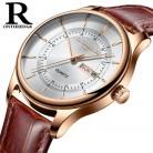 € 8.88 57% de réduction|Haute qualité cadran en or Rose montre hommes en cuir étanche 30 M montres d'affaires mode japon Quartz mouvement automatique Date mâle horloge-in Montres à quartz from Montres on Aliexpress.com | Alibaba Group