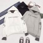 842.14 руб. 45% СКИДКА|Bangtan обувь для мальчиков Kpop толстовки bts альбом Love Yourself кофты в полоску лоскутный свитер пуловеры женщин для зимняя одежда A4044 купить на AliExpress