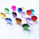 Высокое качество 20 шт./лот многоцветный 14 мм хрустальные Восьмиугольные бусины в одном отверстии K9 кристаллы части для люстры аксессуары DIY ...