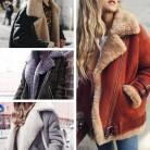 US $17.3 |Women Coat 2018 Faux Fur Collar Lapel Zipper Plain Coats-in Faux Fur from Women's Clothing on Aliexpress.com | Alibaba Group