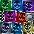 US $6.38 20% OFF|Halloween Mask LED Light Up Party Masks The Purge Election Year Great Funny Masks Festival Cosplay Costume Supplies Glow In Dark-in Party Masks from Home & Garden on Aliexpress.com | Alibaba Group
