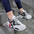 646.3 руб. 58% СКИДКА|Стильные женские кроссовки увеличивающие рост 6 см INS Ulzza кроссовки Harajuku амортизация Высота платформы дышащая Волна Спортивная обувь для прогул купить на AliExpress