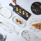 693.62 руб. 38% СКИДКА|Lekoch креативная мраморная полосатая большая прямоугольная и круглая керамическая тарелка для пиццы кухонная посуда фарфоровая суши посуда оптовая продажа-in Блюдца и тарелки from Дом и животные on Aliexpress.com | Alibaba Group