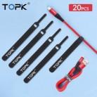TOPK Кабельный органайзер, держатель для намотки проводов, для наушников, мыши, Aux, USB кабель для управления, провод 14 см, защита кабеля для Micro usb...