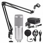 1859.83 руб. 22% СКИДКА|Professional BM 800 караоке микрофон конденсаторный микрофон наборы Комплект Mikrofon для компьютера микрофон аудио вокальный запись купить на AliExpress