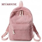 US $10.98 52% OFF|Miyahouse Preppy Style Soft Fabric Backpack Female Corduroy Design School Backpack For Teenage Girls Striped Backpack Women-in Backpacks from Luggage & Bags on Aliexpress.com | Alibaba Group