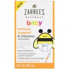 Zarbee's, Baby, Immune Support & Vitamins, Natural Orange Flavor, 2 fl oz (59 ml)