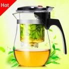 Высокое Качество Термостойкие стекло чай горшок китайский кунг фу набор пуэр чайник кофе стекло чайник удобный офисный чайник купить на AliExpress