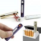 USB Зажигалка электронная перезаряжаемая табачная сигарета Электронная зажигалка для сигар ветрозащитная золотая металлическая труба факел зажигалка купить на AliExpress