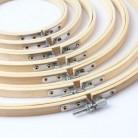 Инструмент для шитья, круглые деревянные обручи для вышивки, набор рам, бамбуковые кольца для вышивки для DIY, игла для вышивки крестом, инстр...