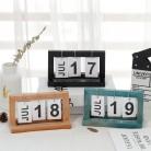 Office Wooden DIY Flip Calendar Desk Calendar Double Daily Planner Table Planner Annual Agenda  Desktop Decorative Ornaments on AliExpress