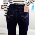 886.12руб. |2019 весенне осенние хлопковые эластичные узкие джинсы карандаш с высокой талией для девочек, штаны, брюки-in Джинсы from Женская одежда on AliExpress