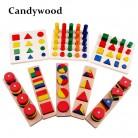 2576.77руб. |Candywood 8 шт./компл. Монтессори для малышей и детей постарше деревянных учебных пособий геометрический Форма аппарат для сортировки и укладчик блоки Развивающие игрушки для детей-in Блоки from Игрушки и хобби on AliExpress - 11.11_Double 11_Singles' Day