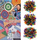 JOJO BOWS 50pcs DIY Handmade Mosaic Tiles Diamond Transparent Mixed Color Glass For Mosaic Crafts Supplies Puzzle Art Materials