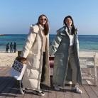 2885.35руб. 55% СКИДКА|Длинная пуховая хлопковая куртка Женская парка свободное теплое пальто зимнее женское с капюшоном с длинным рукавом Зимнее пальто Женская Стеганая верхняя одежда Q1773-in Парки from Женская одежда on AliExpress