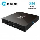 2208.31 руб. 16% СКИДКА|[Подлинный] VONTAR X96 Amlogic S905X четырехъядерный Android 6,0 tv Box 4 K 2 GB 16 GB 2,4G Wifi HD 2.0A Smart tv Box медиаплеер-in ТВ-приставки from Бытовая электроника on Aliexpress.com | Alibaba Group