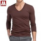516.77 руб. 20% СКИДКА|2019 мужские дизайнерские футболки с длинным рукавом с круглым вырезом, облегающие модные хлопковые повседневные футболки с круглым вырезом для фитнеса, мужские большие размеры 4XL 5XL-in Футболки from Мужская одежда on Aliexpress.com | Alibaba Group