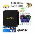 2521.57 руб. 26% СКИДКА|MX 10 tv box Android 9,0 mx10 4 Гб DDR4 32 ГБ/64 Гб RK3328 4 ядра KD18.0 4 K 2,4 ГГц WI FI USB 3,0 vs t9 tv box h96 max plus купить на AliExpress