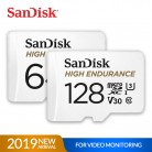 SanDisk Memory Card High Endurance micro SD Card C10 V30 U3 4K 32GB 64GB 128GB 256GB TF Cards for Dash Cam Home Video Monitoring