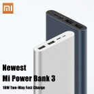 Xiaomi Original Mi Power Bank 3 2 18W 10000mAh Quick Charge Dual-USB Aluminium Powerbank Fast Charger Portable External Battery