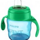 Купить Поильник-непроливайка Philips AVENT SCF551, 200 мл голубой/зеленый по низкой цене с доставкой из маркетплейса Беру