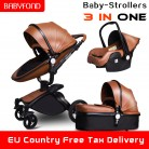 US $106.47 37% OFF|25usd Coupon!Babyfond Leather stroller luxury baby stroller 3 in 1 Folding kinderwagen baby pram child stroller send free gifts-in Four Wheels Stroller from Mother & Kids on Aliexpress.com | Alibaba Group